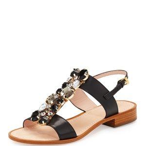Kate Spade Brigit Jeweled Flat T-Strap Sandal